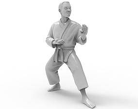 3D print model karate Kokutsu Dachi Stance