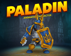 Paladin animated character 3D asset