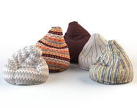 3D Armchair bag pouf pillow armchair 2