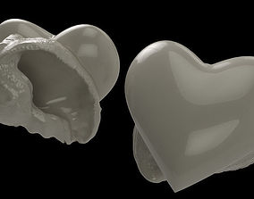Heart - Hermit crab shell 3D print model