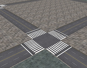 City landscape 3D model VR / AR ready