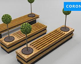 design bench transformer set corona v-ray 3D asset