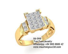 3D print model 848 Diamond Ring