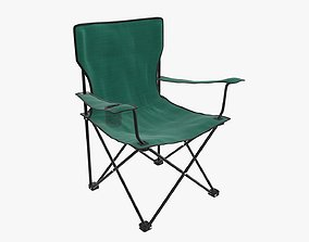Camp armchair folding 3D model
