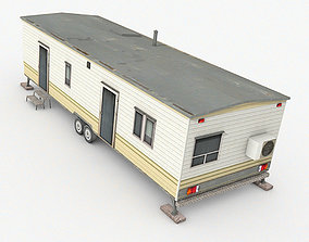 3D asset game-ready Trailer House
