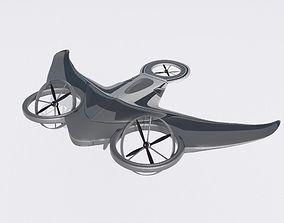 Drone Black Manta 3D model rigged