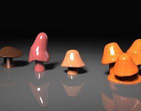 3D printable model Basic Mushrooms