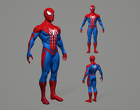 Spiderman 3D model game-ready