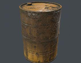Rusty Barrel PBR 3D model