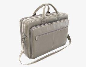 Leather laptop briefcase shoulder bag travel handbag 02 3D