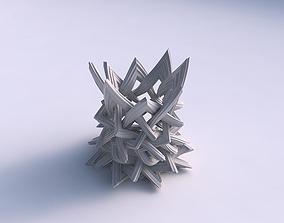 3D print model Vase widening with interlacing lattice 2