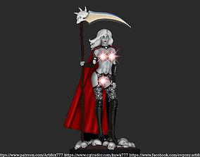 lady death sword and scythe 3D print model
