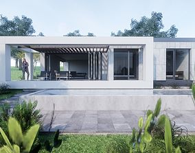 Contemporary Villa exterior 3D model