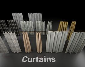 3D model Post Soviet Curtains UE4