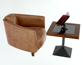 Sessel Cigar Lounge Chair 3D model