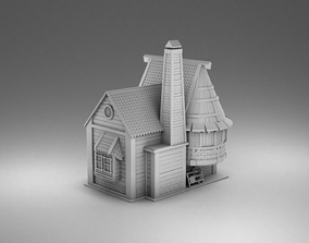 3D printable model Vikings house with a stove