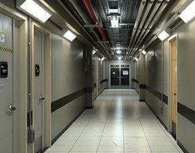 3D model Industrial Hallway