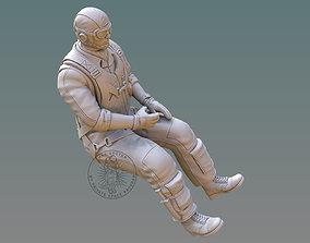 3D print model US NAVY PILOT gunner