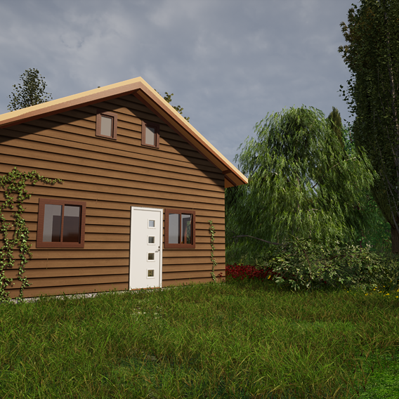 Exterior Render of a Cabin