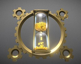 3D model Hourglass Clockwork Animation