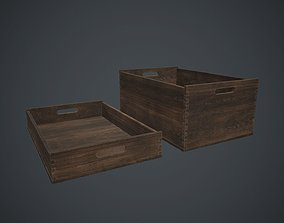 3D asset Wooden Crate 1 PBR Game Ready