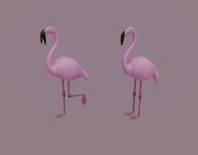 3D asset rigged Flamingo