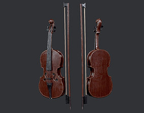Violin Instrument Game Ready 02 3D asset
