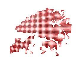 Round Style Hong Kong Map v1 003 3D asset