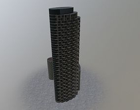 3D model London Apartment Tower