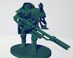 3D printable model Space robot sniper Squad