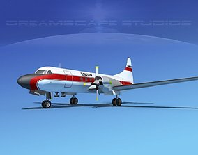 Convair CV-580 Zantop 3D model