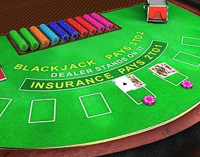 Professional Blackjack Table 3D asset