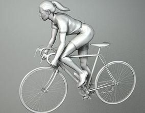 3D model WOMAN CYCLIST