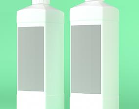detergent Square bottle of disinfectant 3D model