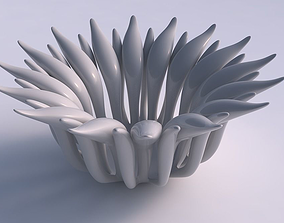 Bowl two layered flower tapered 3D print model