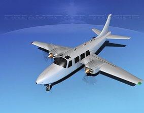 3D Piper Aerostar 600 Bare Metal