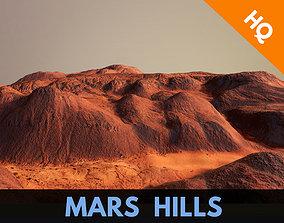 3D model Hills Mars Planet Mountain Terrain Landscape 3