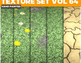 3D asset Grass Vol 64 - Game PBR Textures