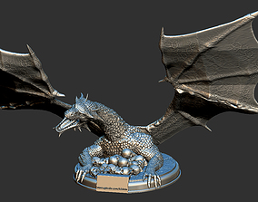 Game of Thrones Dragon Bust with Skulls High Detail 3D