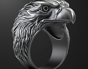 gold Eagle ring 3D print model