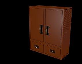 3D asset Low poly cupboard