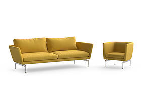 3D model Vitra Suita sofa and armchair