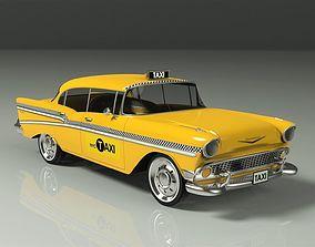 3D Chervolet Bel Air taxi