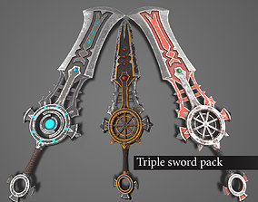 Swords of death knight pack 3D asset