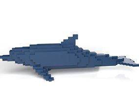 Dolphin Minecraft Voxel 3D model