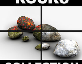 3D model Detailed rocks collection