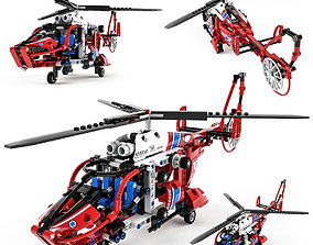 Lego Technic Rescue Helicopter 3D