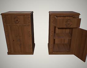 bedside table 3D asset low-poly
