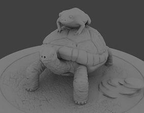 tortuga con sapo 3D print model