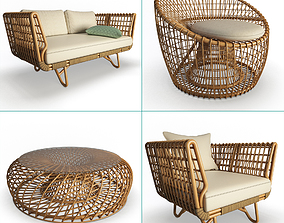Nest Rattan Furniture Collection Cane-Line 3D model